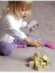 toddler with blocks