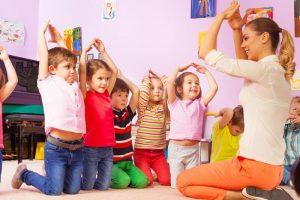 kids practice movements
